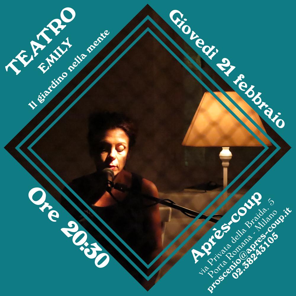 TEATRO 21/02/2019 - Teatro - Emily - Il giardino nella mente