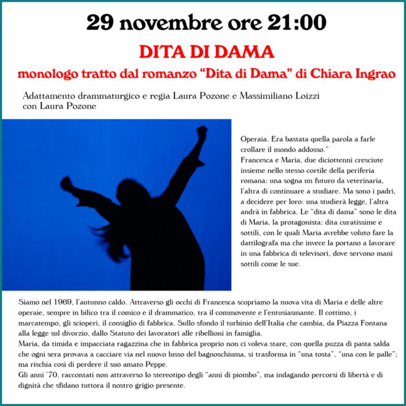 29 novembre ore 21:00 - DITA DI DAMA