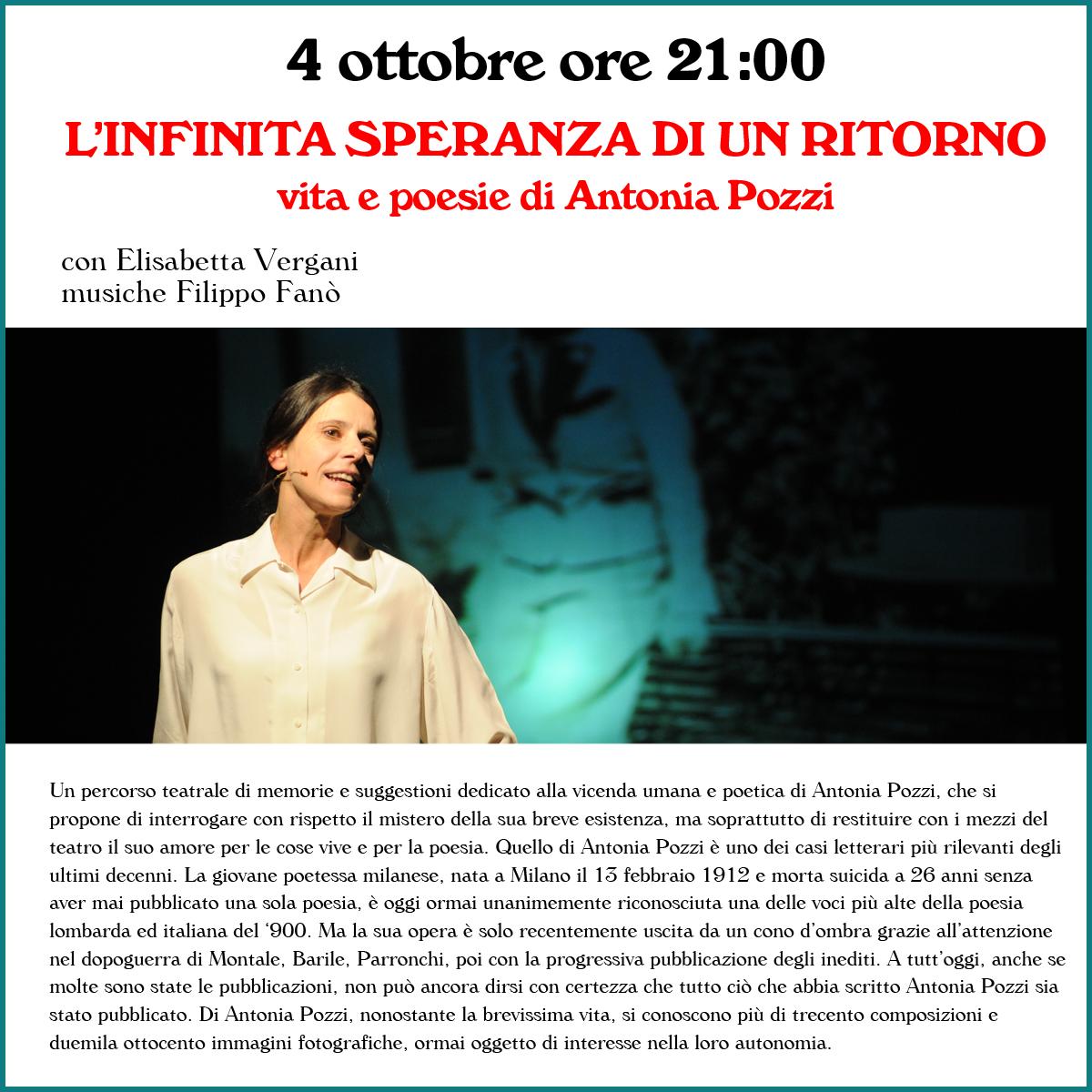 4 ottobre pre 21:00 - L'INFINITA SPERANZA DI UN RITORNO